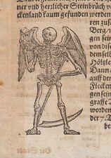 Tod Memento Mori  Tauber 16/17.Jh. Holzschnitt Totentanz Vanitas Death Skull