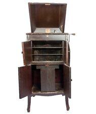 Vintage Hmv 161 Antique True Cabinet Phonograph Music Box Gramaphone HB 041
