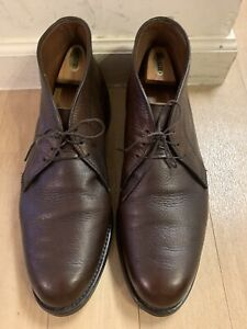 Allen Edmonds Malvern Chukka Boots In Brown Pebbled Leather   Made In USA  14 D