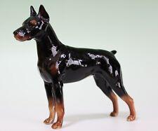 """Doberman Standing Dog Porcelain Figurine 7.5"""" Long Smaller Version Japan New"""