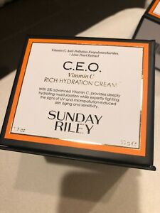 SUNDAY RILEY C.E.O. CEO Vitamin C Rich Hydrating Cream ~ FULL SIZE ~ NEW