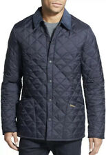 New Barbour Liddesdale Regular Fit Quilted Men's Jacket navy Size Large