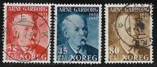 Norway, Used, #318, #320, Arne Garborg, CV = $6.50