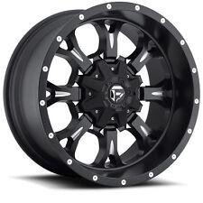 "18"" D517 Fuel Krank Black Wheels 8x6.5 Dodge RAM Chevy GMC 33"" Mud Tires Package"