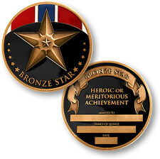 U.S. Military / Bronze Star - Engravable Brass Challenge Coin