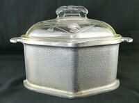 Vintage Guardian Service Cookware Aluminum Triangle Pot With Glass Lid