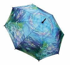 Galleria Monet Water Lilies Windproof Automatic Open Close Folding Umbrella