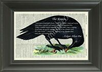 ORIGINAL-The Raven-Edgar Allan Poe - Vintage Dictionary Page Art Print - 423D
