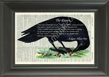 ORIGINAL-The Raven-Edgar Allan Poe - Vintage Dictionary Page Art Print - 423D