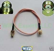 12 INCH RP-SMA Male to RPSMA Female Extension Cable RG316 High Quality LOW LOSS
