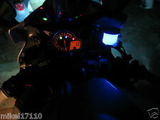 1 Blue LED Motorcycle Accent String Light Glow Neon Custom Brake Reservoir GSXR