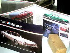 BEAU DEPLIANT MATADOR AMERICAN MOTORS  1974 : coupé, berline sedan, station wag.
