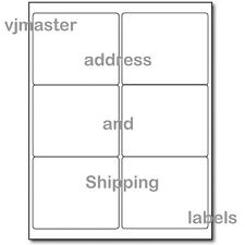 "600 address and shipping labels,6 labels per sheet,4""x3.33"" per label,100 sheets"