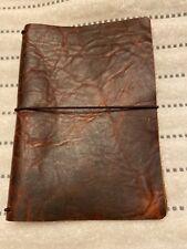 Handmade B6 Slim Size Brown Leather Travelers Notebook