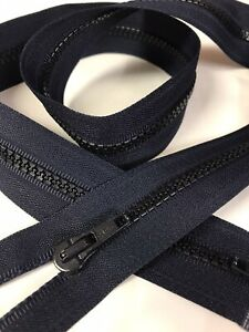 80cm two way open ended navy zip