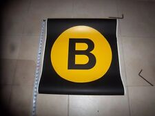 22x24 B NYC SUBWAY ROLL SIGN MANHATTAN 34th ST HERALD SQUARE CHRYSTIE BROOKLYN