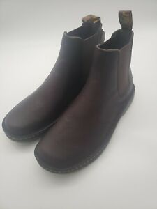 Dr. Martens Suffolk Brown Leather Brown Work Boots Size 10 Men's