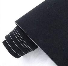 Black Suede fabric car wrap velvet vinyl film For Car Automotive Decals sticker