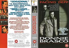 VHS VIDEO SLEEVE - ENTERTAINMENT IN VIDEO (SELL THRU) - DONNIE BRASCO