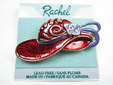with Red Enamel 1880 Rachel Gold Plated Hat Brooch