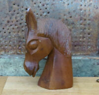 Carved Wood Wooden Folk Art Horse Head Country Primitive Decor