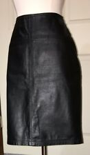 Limited Express Black Soft 100% Leather Lined Skirt Sz 11 A-Line Exc
