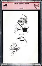 Jim Steranko Nick Fury Head Sketch Art - CBCS Authentic Art and Signature Marvel Comic Art