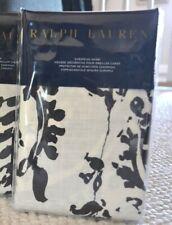 RALPH LAUREN SEVILLE PAISLEY EURO SHAM(1) ~ BLACK/OFF WHITE