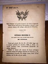 REGIO DECRETO 1876 comune CRACO separato FERRANDINA sez coll el. TRICARICO
