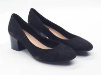 Marks & Spencer Womens UK Size 6 Black Suede Heels
