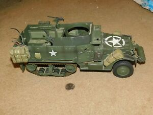 Ultimate Soldier 1/18 WWII US Military M3A3 Halftrack Tank 21st Century Toys