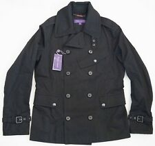 $1995 RALPH LAUREN PURPLE LABEL Double-Breasted PEACOAT Rain TRENCH Coat XS