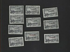 Mexico sc#CO11 (1930)  x2 MNH  X6 MH + 2 Red Overprint MH