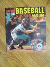 1982 O-Pee-Chee Baseball Album Stickers Empty