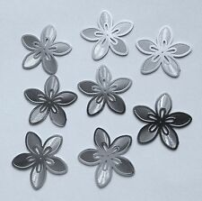 30 pcs Silver Embellishments Scrapbooking Paper Flower Metal Stamping Craft F