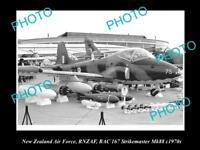 HISTORIC AVIATION PHOTO OF RNZAF NEW ZEALAND AIR FORCE, STRIKEMASTER JET 1970s
