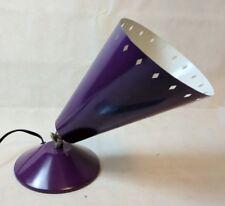 Purple Stage Footlight Style Lamp, Standard Bulb Socket, On/Off Dial, US Plug