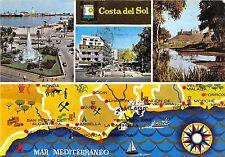 BG6436 costa del sol mar mediterraneo map cartes geographiques   spain