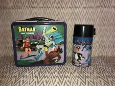 1966 Batman and Robin Lunchbox Lunch box Aladdin with Matching Thermos