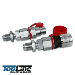 """TL24 #10 JIC Thread 1/2"""" Flat Face Hydraulic Quick Connect Coupler Skid Steer"""