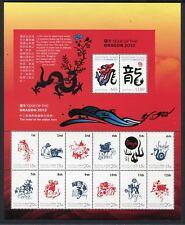 2012 Christmas Island Year of The Dragon - MUH Sheetlet