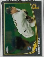 2013 topps chrome baseball Gerrit cole Rookie card Pittsburgh Pirates