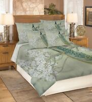 3D Peacock Squid 767 Bed Pillowcases Quilt Duvet Cover Set Single Queen UK Carly