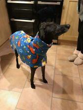 "dog Snood jumper fleece house coat whippet lurcher Dinosaur print 26"""