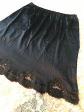 "Ladies JCPenny Body Lite Black Half Slip, Size L, LACE, 24"" Long, Nice!!"
