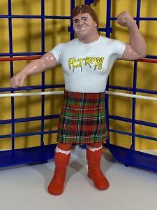 WWF LJN Rowdy Roddy Piper Red Boots!! w/ Kilt Near Mint!! Vintage Titan Sports