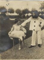 Deguisemen Bambini Clown Foto Vintage Analogica