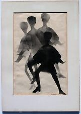 1967 Lithograph Artist Simpson Swinging Sixties Go-Go Discotheque Mod Fashion !!