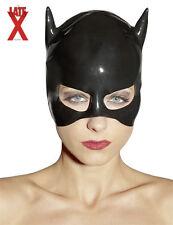 Maschera in lattice nero Latex Cat Mask Black Sexy toys Bondage Fetish erotic