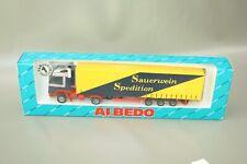 """Albedo Volvo LKW Sattelzug """"Sauerwein Speditionl"""" 1:87 / H0 OVP NOS 299003"""